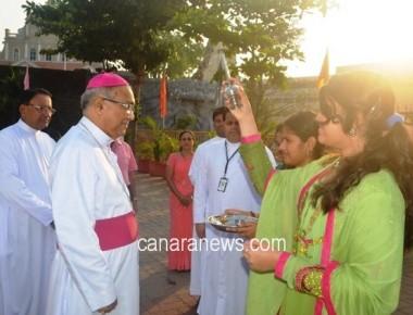 Bishop visits Lourdes Central School