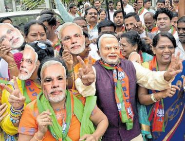 BJP workers in state erupt in joy over election results