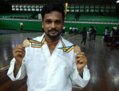 Bola Rakesh Poojary wins two gold medals at International Karate Championship