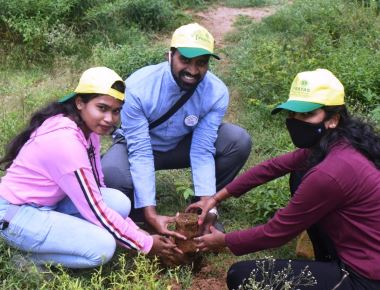 BOSCO YOUTH CELEBRATES GANDHI JAYANTI PLANTING TREES