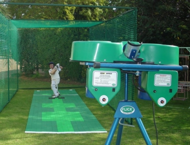 Advanced bowling machine at Karavali Cricket Academy