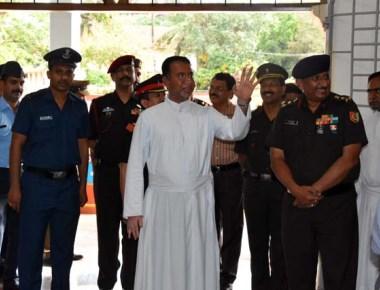 Brig D M Poorvimath visits St Aloysius College