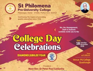 Shines bright like a Diamond St. Philomena P.U. College