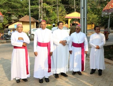 Quintuple Jubilee Celebrations held at Most Holy Redeemer Church, Derebail