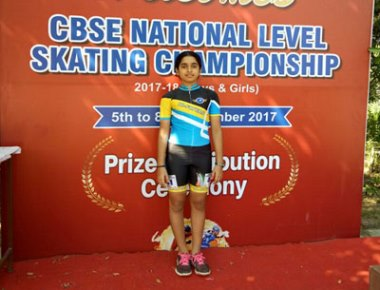 Cambridge School's Dashiel bags silver medal in national level skating