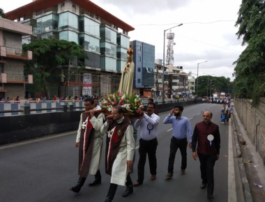 The solemnity of Our Lady of Mt. Carmel was solemnly celebrated at Bengaluru