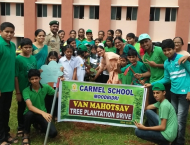 Carmel School Moodbidri celebrates Vanamohotsava