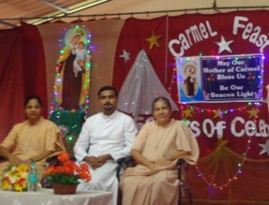 Carmel College Modankap celebrates feast of patroness