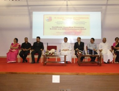 Certificate awarding ceremony for BCom, BBA held at SAC