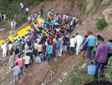 Thirty, including 27 children, killed as school bus plunges into gorge