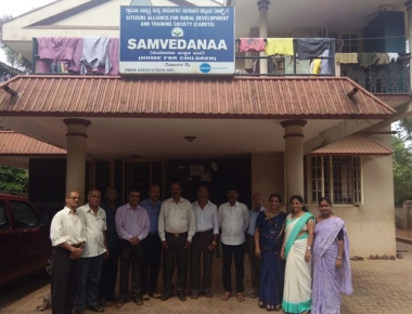 Members of St Christopher Association visit Cardts Samvedanaa children home