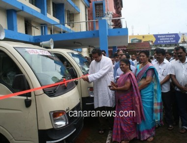 Udupi CMC released three solid waste collection vehicle