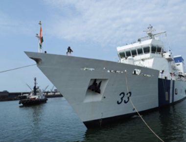 Newly Commissioned Indian Coast Guard Ship ICGS Vikram arrives