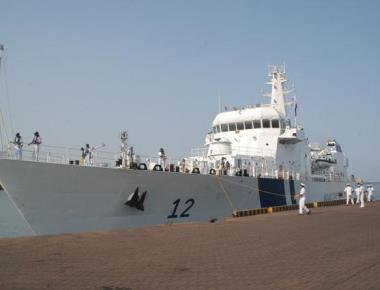 Coast Guard ship 'Shoor' arrives to its base in Mangaluru