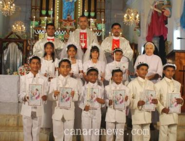 Ten children of Milagres Cathedral received First Holy Communion