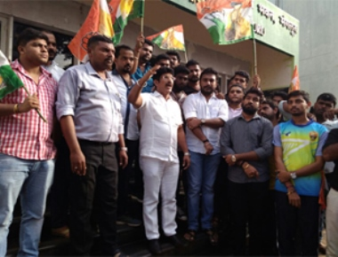 Congress workers attack central revenue office at Attavar