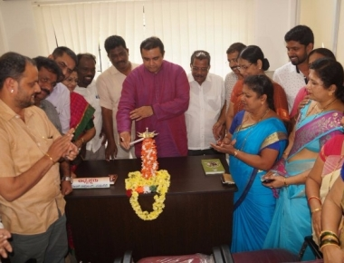 New Congress office inaugurated by Pramod Madhwaraj