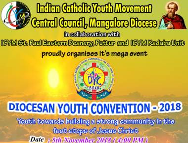 ICYM Central Council, Diocese of Mangalore will hold its 9th Diocesan Youth Convention