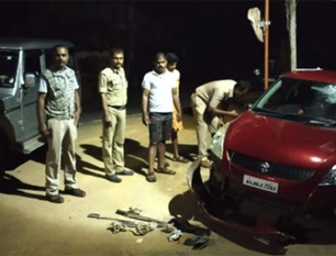 Three arrested after long chase by police