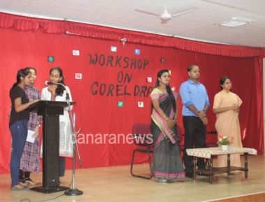 A One-day workshop on COREL DRAW, was inaugurated at St Agnes