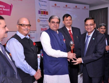 "Corporation Bank bags ""Best MSME Bank Award 2016"""