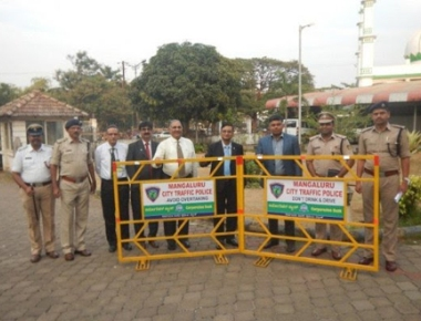Corporation Bank donates traffic barricades to Police