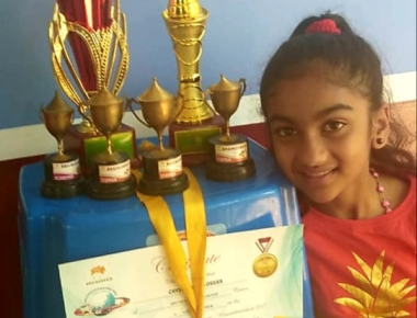 Crystal Paladka  won 2nd place in Indian  national level Abacus Competition