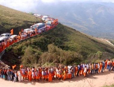 Tension at Datta Peeta as devotees go berserk
