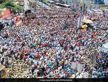 At BJP's Mega Rally In Mangaluru, Top Leader BS Yeddyurappa Detained