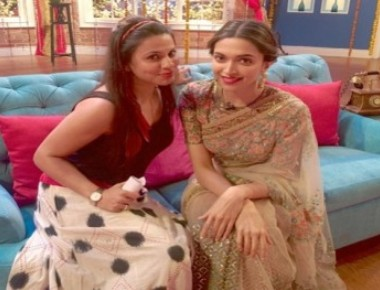 Deepika promotes 'Piku' on the sets of 'Comedy...'