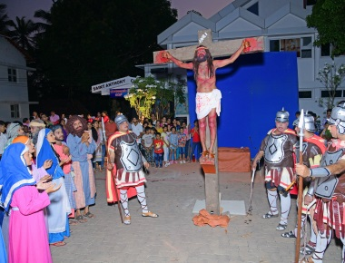 St Anthony's Ashram Jeppu holds Live Way of the Cross