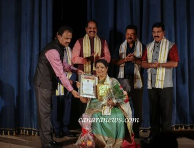 Girija Lokesh conferred Dhwani Sriranga International Theatre award