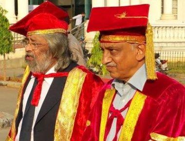 Dr Arunachalam honoured alongside ISRO chairman at Shivamogga