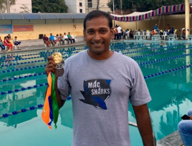Dr Ashutosh shines at national masters aquatic championship