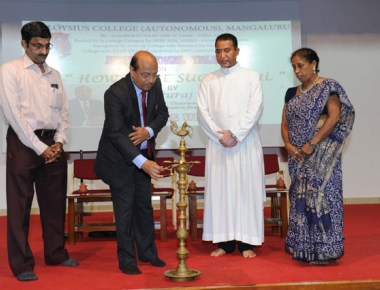 Dr Gururaj Karajagi inspires students of St Aloysius College on 'How to be successful'