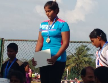 Shotput champion Nishel D'Souza wins gold at state athletics
