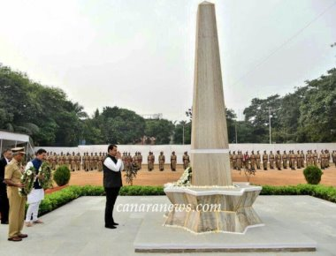CM Devendra Fadnavis pay homage and remember to Police Martyrs at Naigaon Police Ground in Mumbai.