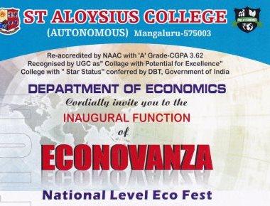 'Econovanza' economics fest at St Aloysius College on Feb 22