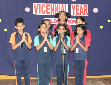 English elocution competition commences Lourdes Central School vicennial year