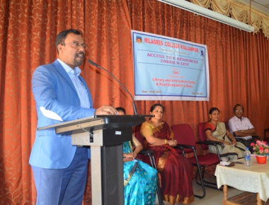 'Access to E-Recourses' programme held at Milagres College, Kallianpur