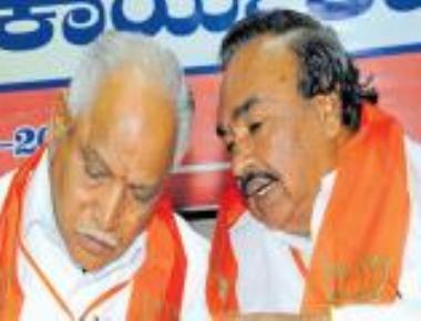 Will work together for the party, say Yeddyurappa & Eshwarappa