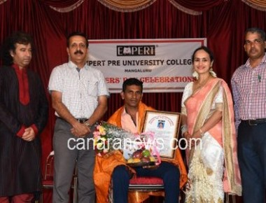 Expert PU College celebrates Teachers' Day, honours Pratap Shetty