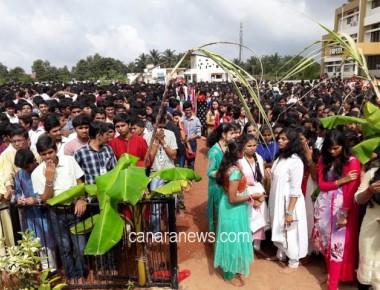 Expert P U College celebrates Ganesha Chaturthi