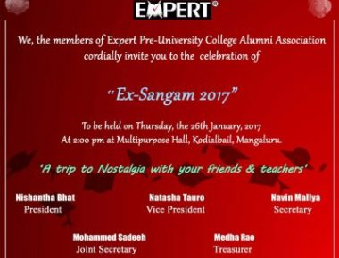 Expert PU College alumni to hold 'Ex-Sangam 2017'