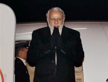 PM lands in Pak on surprise visit, meets Sharif