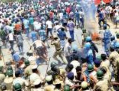 Cops cane farmers trying to enter KRS dam