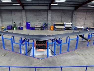 Facebook's solar-powered drone to beam internet from the sky