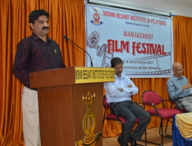 MSNM Besant Institute, Bondel holds mangagement film festival