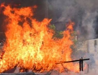 Huge fire engulfs rubber and coconut plantations in Bantwal