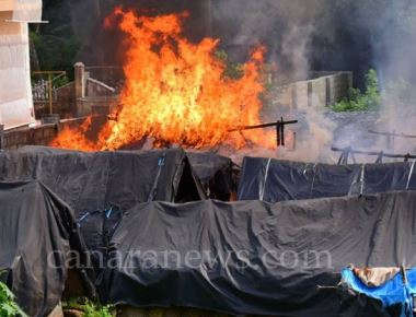 Seven shanties of migrant workers destroyed in fire
